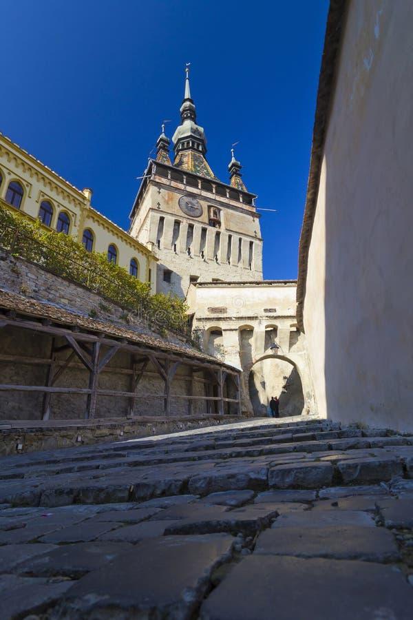 Ville médiévale de Sighisoara images stock