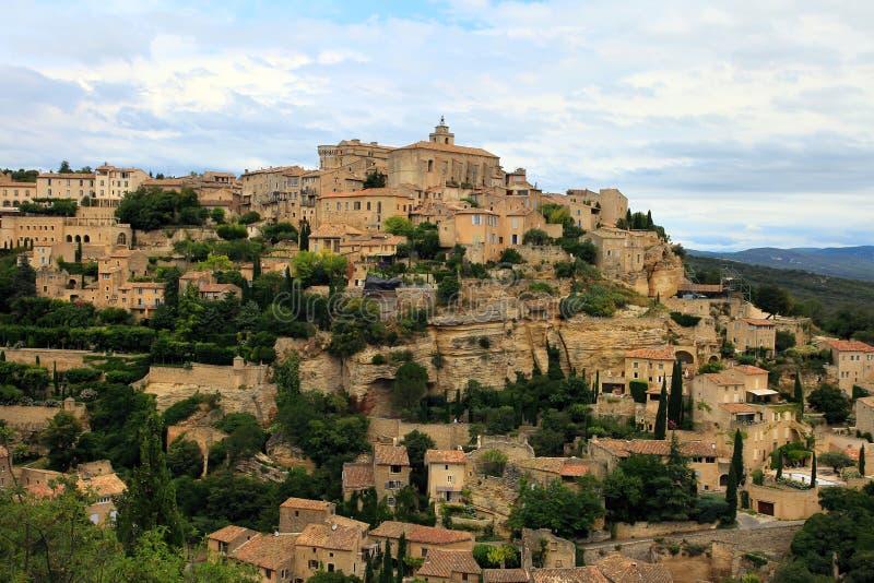 Ville médiévale de sommet de Gordes La Provence france images libres de droits
