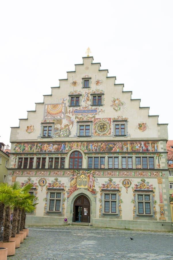 Ville médiévale Hall Lindau image stock