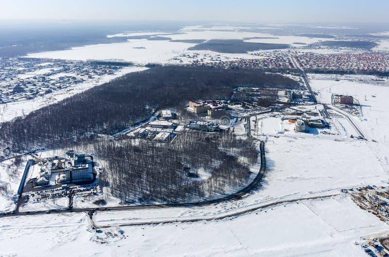 Ville médicale dans Patrushevo, Tyumen, Russie images stock