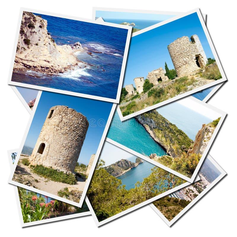 Ville méditerranéenne de Javea de province d'Alicante photographie stock libre de droits