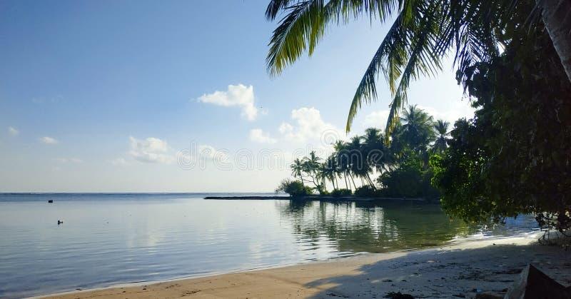 Ville Maradhoo, Maldives d'Addu photographie stock