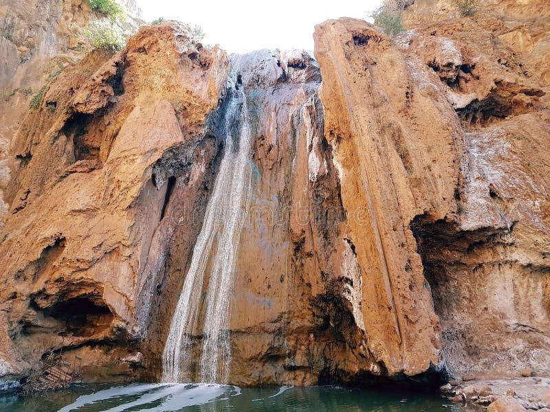 Ville marocaine de cascade de Fath photo stock