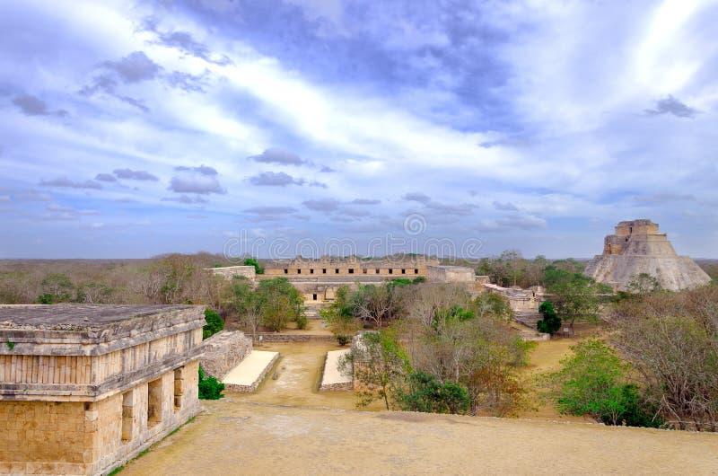 Ville maya antique d'Uxmal photographie stock