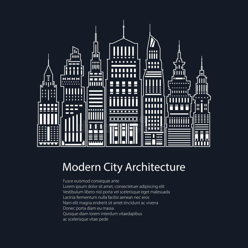 Ville moderne d'affiche grande illustration stock