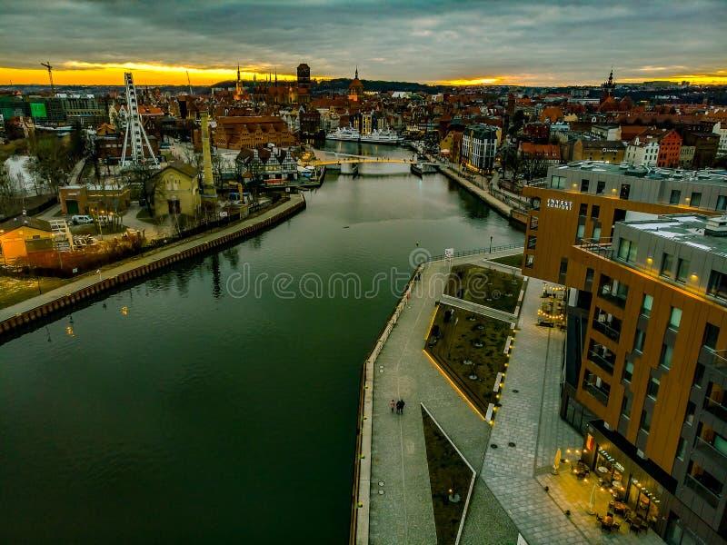 Ville moderne de Danzig photos libres de droits