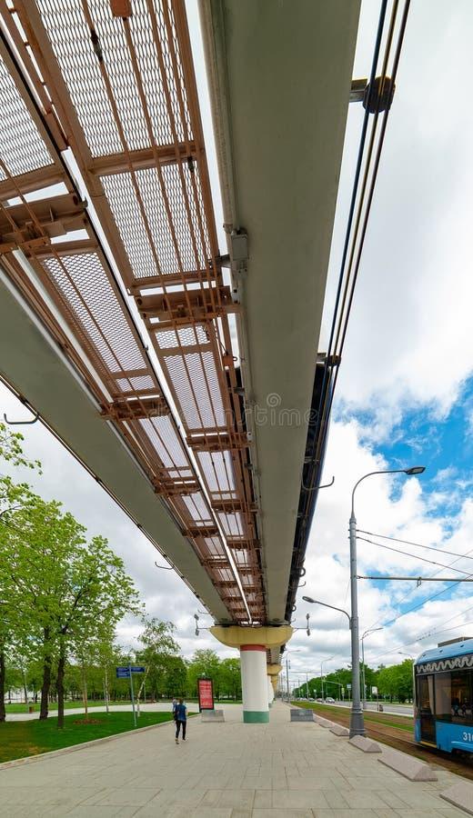 Ville Moscou Monorail de Moscou, centre d'exposition Russie image libre de droits