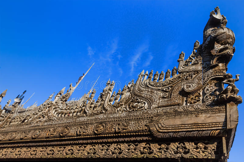 Ville Myanmar de Mandalay de monastère de Shwenandaw photo stock