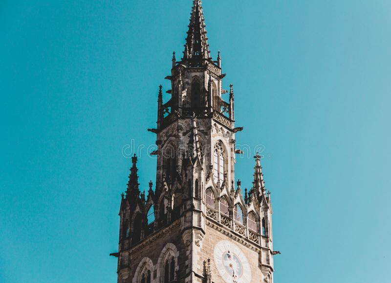 Ville nouvelle Hall German : Neues Rathaus ; Bavarois central : Neis Rathaus images stock