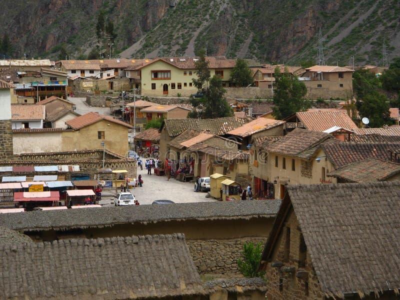 Ville péruvienne photo libre de droits