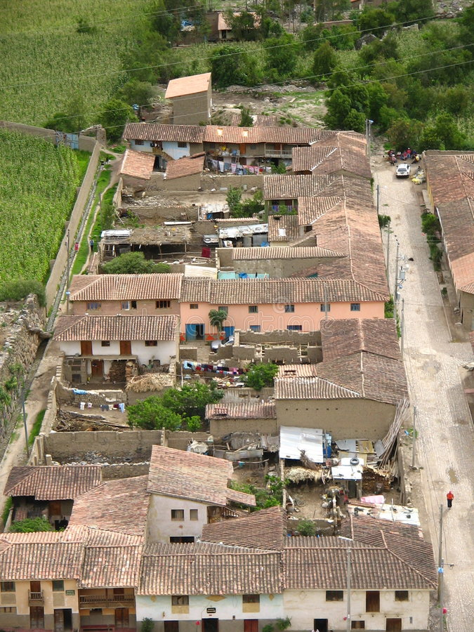 Ville péruvienne images stock