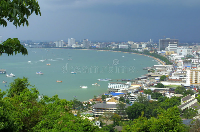 ville pattaya Thaïlande images stock