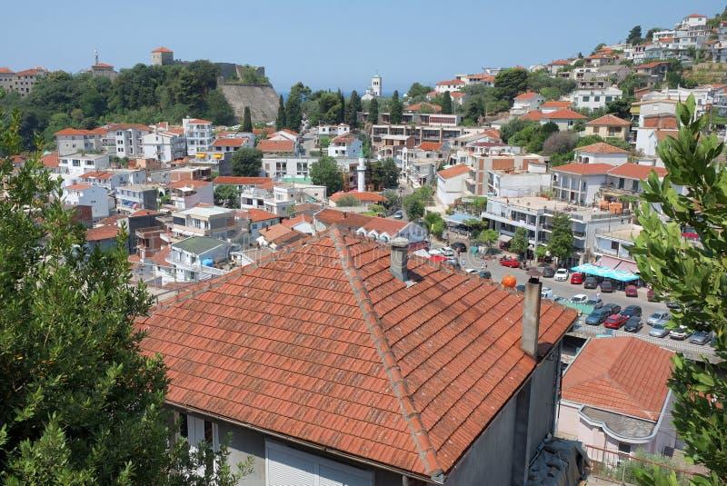Ville pittoresque d'Ulcinj dans Monténégro photos libres de droits