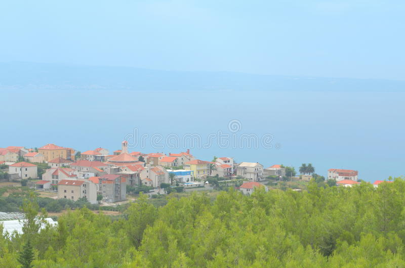 Ville Podstrana, Croatie photos stock