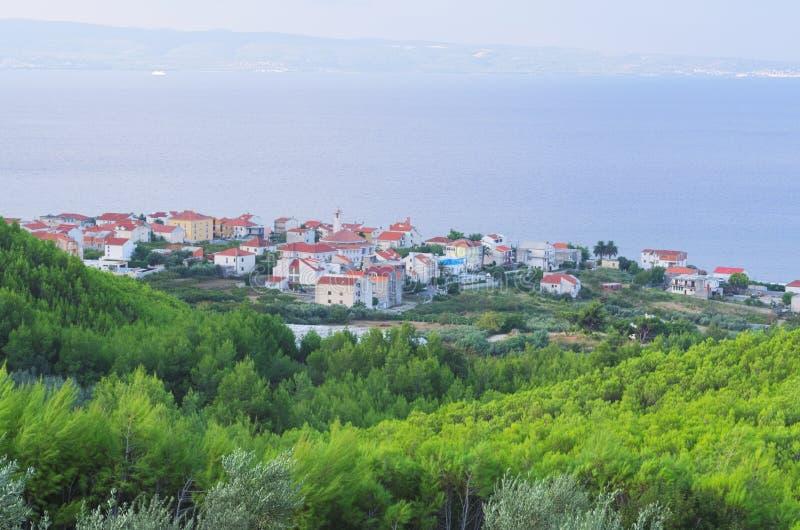Ville Podstrana, Croatie image libre de droits