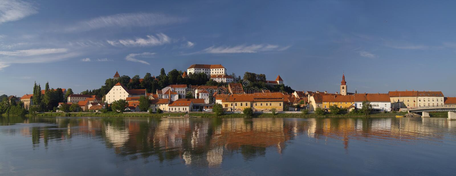 Ville Ptuj photos stock