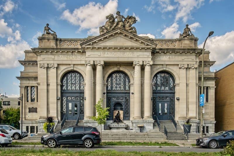 Ville publique de Montréal de bain de Maisonneuve images libres de droits