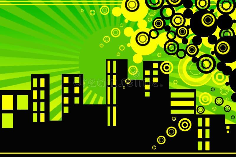 Ville rêveuse Vektor images stock
