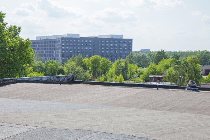 Ville Riga, r?publique letton Bâtiment de service letton de revenu d'état de toit 5 juin Photo de 2019 voyages photographie stock