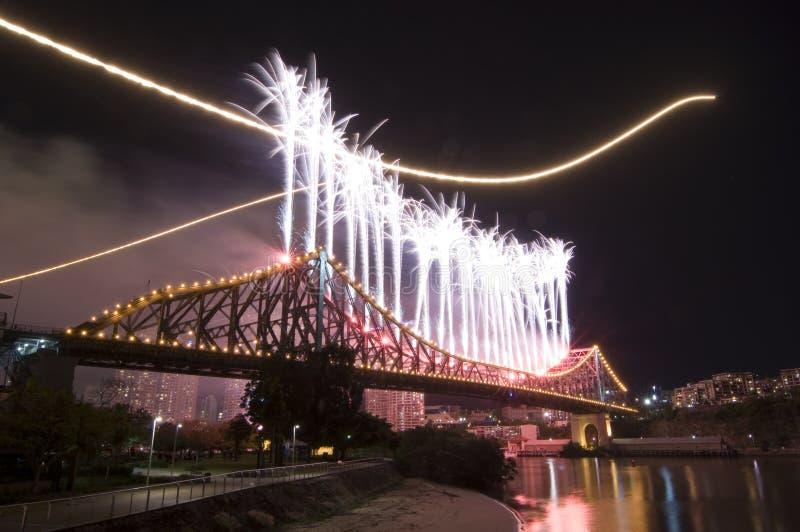 Ville Riverfire de Brisbane photos libres de droits