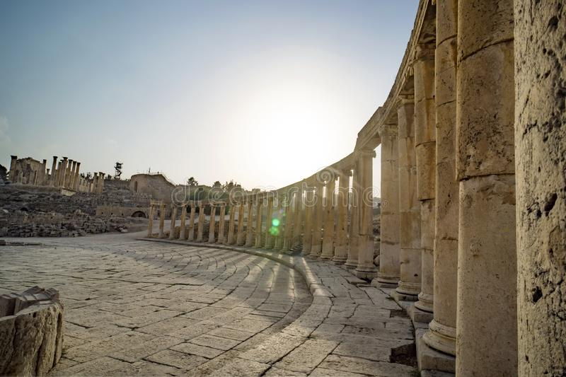 Ville romaine antique de Gerasa, photo libre de droits