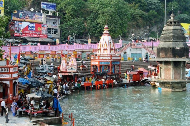 Ville Sainte dans l'Inde photo libre de droits