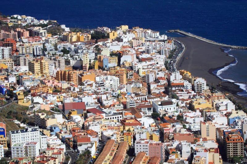Ville Santa Cruz de La Palma image libre de droits