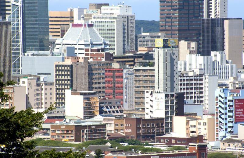 Ville Scape de plan rapproché de Durban central Afrique du Sud images stock