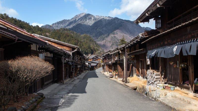 Ville signalée par Japon de Magome photographie stock