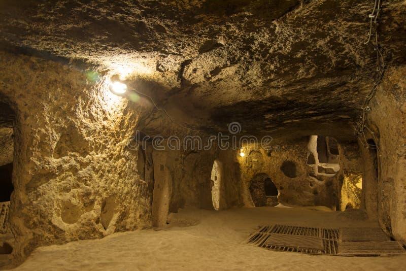 Ville souterraine de Kaymakli photo stock
