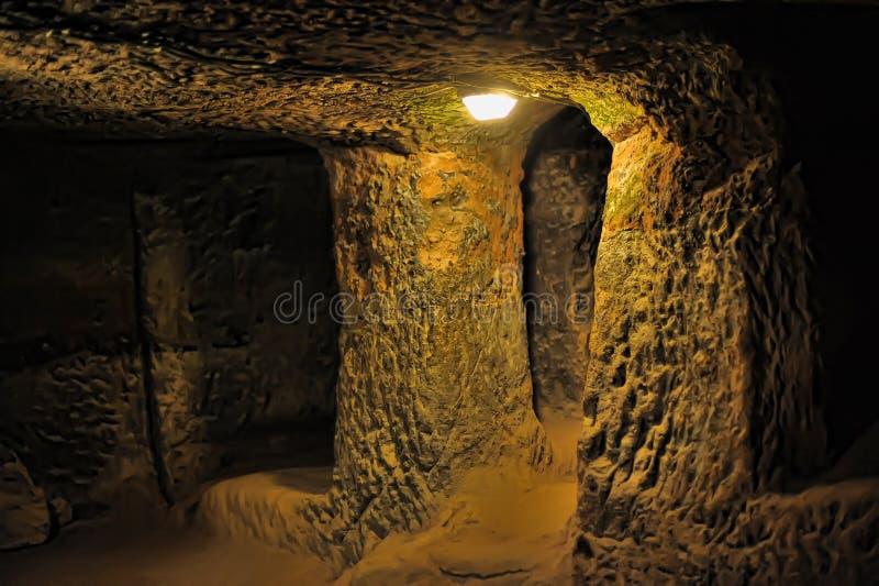 Ville souterraine de Kaymakli photos stock