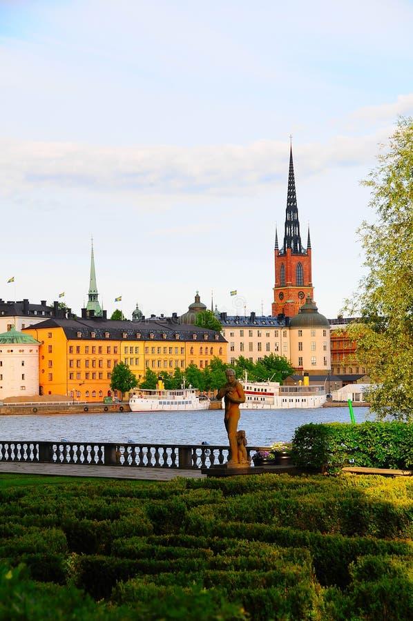 Ville Suède de Stockholm de ville de Gamla Stan Old photos libres de droits