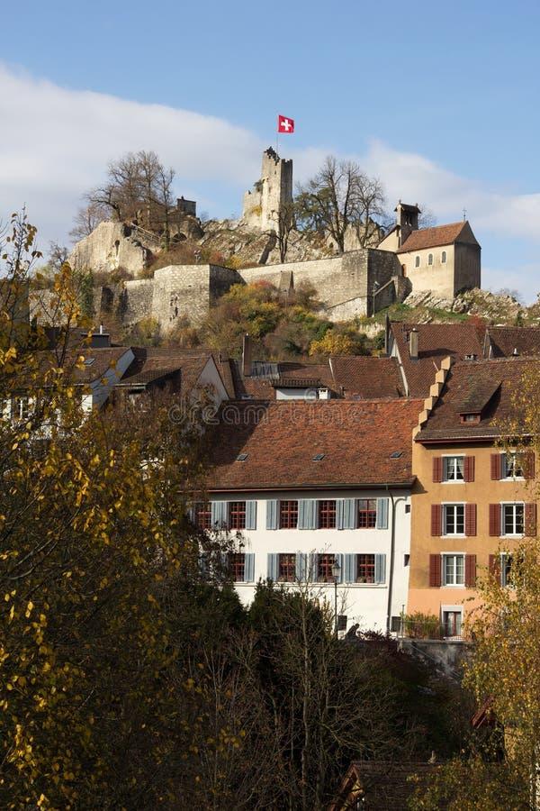 Ville suisse Baden photo libre de droits