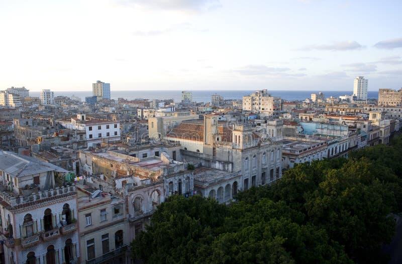 Ville sur la mer - La Havane, Cuba photos stock
