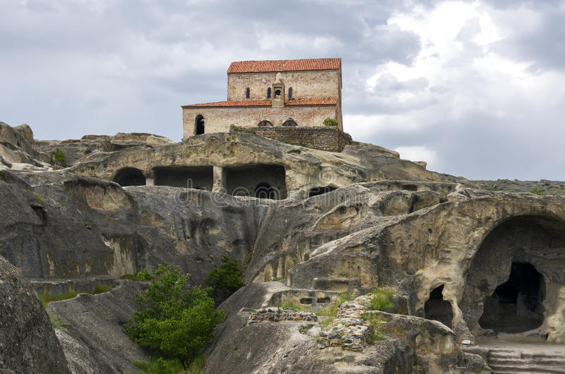 Ville Uplistsikhe de caverne photos libres de droits