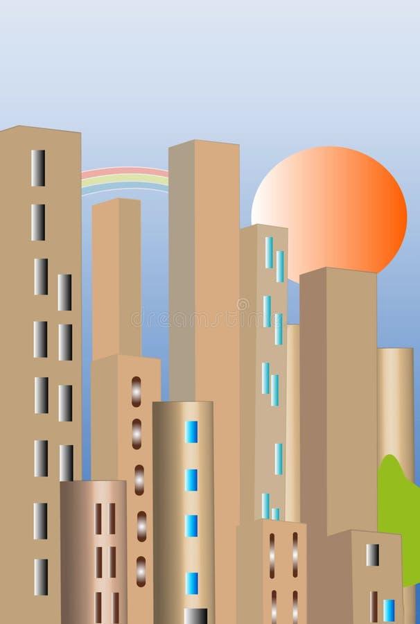Ville urbaine illustration libre de droits