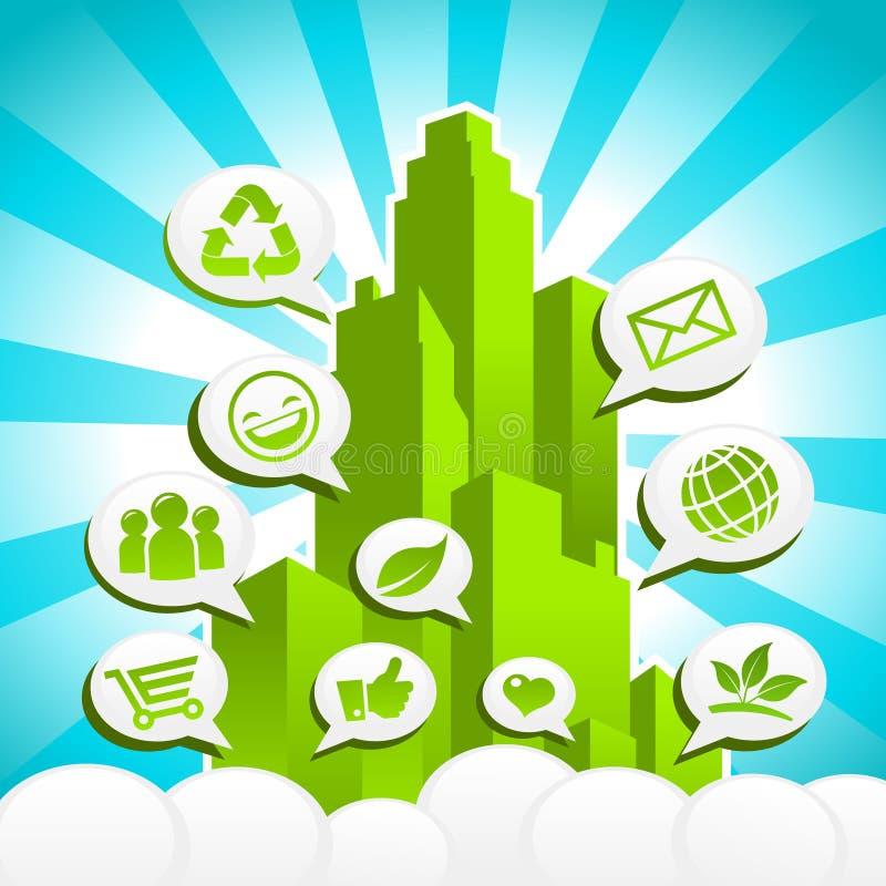 Ville verte d'Eco illustration de vecteur