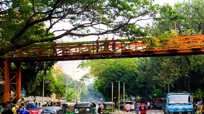 Ville verte Dhaka au Bangladesh photographie stock