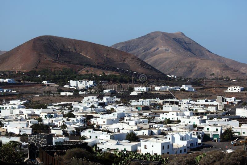 Ville Yaiza, Lanzarote photo libre de droits