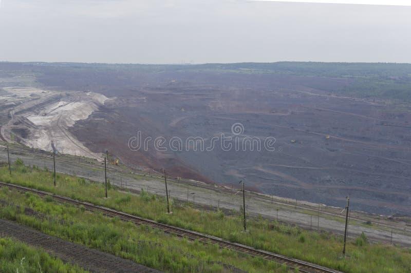 Villebråd för extraktionen av järnmalm royaltyfri fotografi