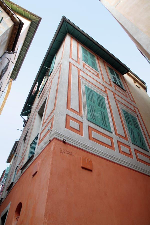Villefrance-sur-MER ` Azur, Frankrike för skjul D arkivfoto