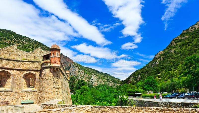 Villefranche de Conflent - Fort Liberia. South of France royalty free stock images