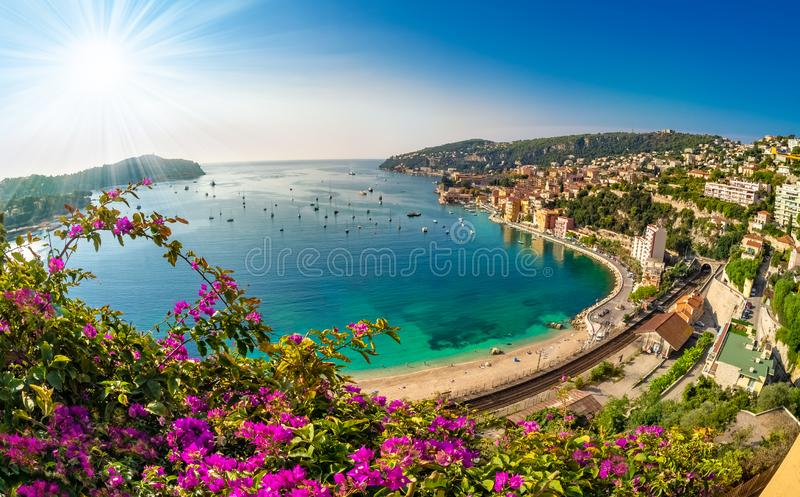 Villefranche sur Mer on the coast of Nice royalty free stock photography