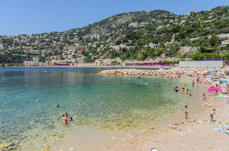 Villefranche-sur-Mer in de Provence, Frankrijk stock foto