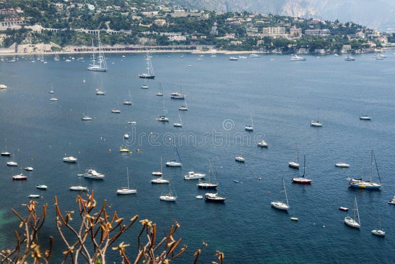 Villefranche-sur-Mer (Kooi d'Azur) stock foto's