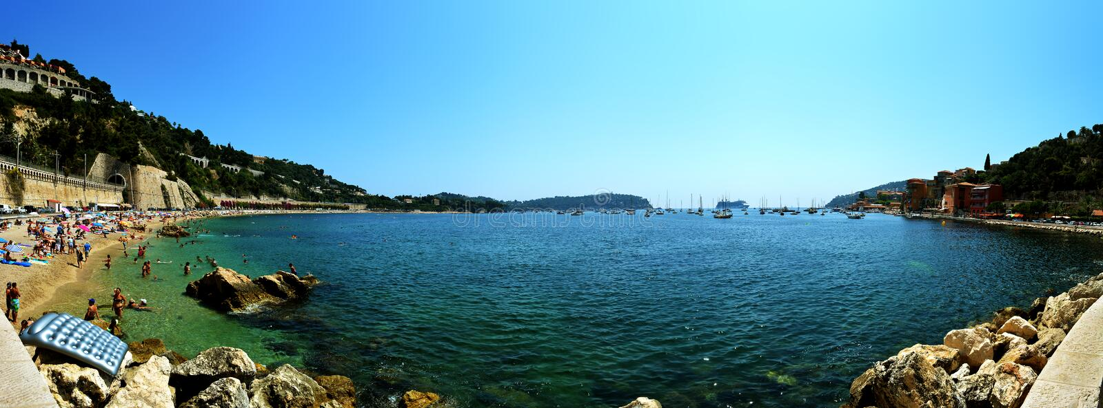 Villefranche-Sur-Mer Panorama royalty free stock photography