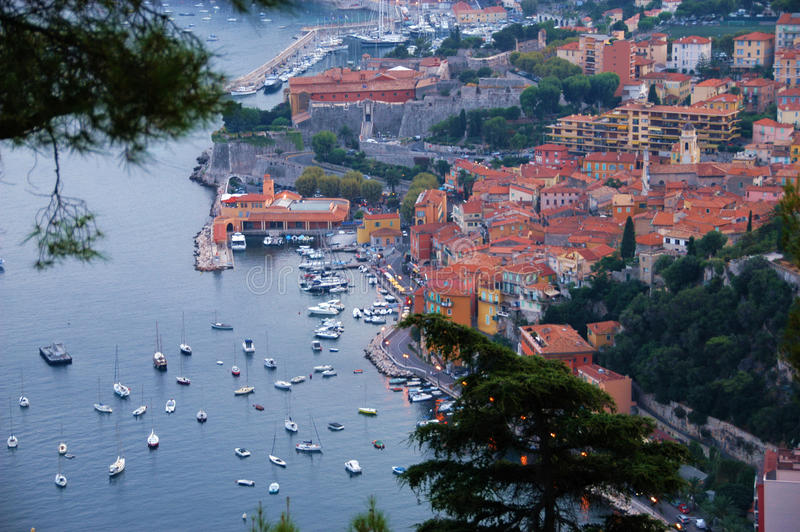 Villefranche-sur-Mer Provence France stock photography