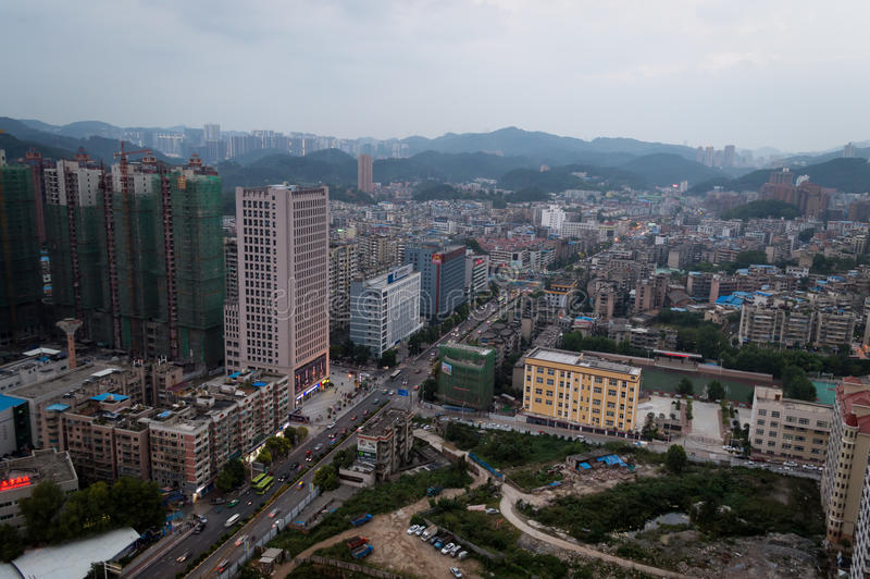 Villege city scene of guiyang,china 3. Guiyang, China forest city scene. Guiyang is a famous tourism city stock images