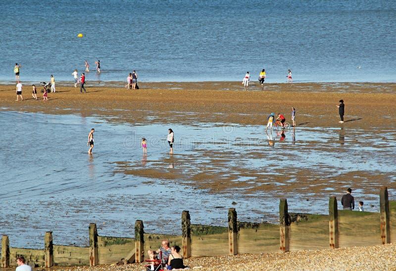 Villeggianti alla spiaggia fotografia stock