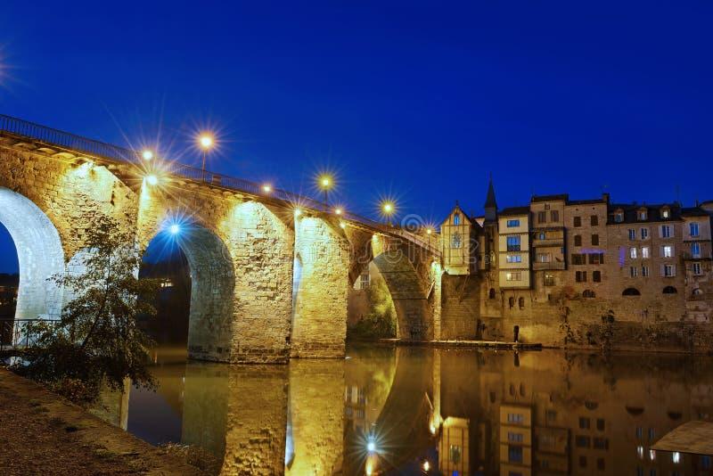 Villeneuve 2 моста стоковое изображение